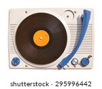 old vinyl turntable player with ... | Shutterstock . vector #295996442