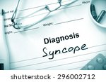 Small photo of Diagnosis Syncope, pills and stethoscope.