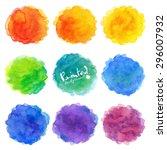 watercolor rainbow colors... | Shutterstock .eps vector #296007932