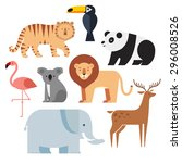 Icons Set Of Vector Animals...