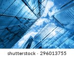 modern business skyscrapers ... | Shutterstock . vector #296013755