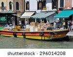 venice  italy   july 18  dhl... | Shutterstock . vector #296014208