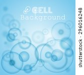 science background with cells | Shutterstock .eps vector #296016248