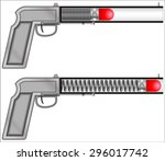 tranquilizer gun spring | Shutterstock .eps vector #296017742