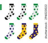 set of socks with soccer ball... | Shutterstock .eps vector #296023022