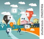 vector infographics layout on... | Shutterstock .eps vector #296029406