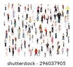 together we stand isolated... | Shutterstock . vector #296037905