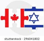 vector image   canada and... | Shutterstock .eps vector #296041802