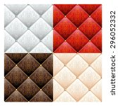Set Of 4 Satin Quilted Seamles...