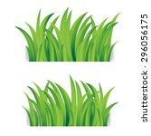 grass isolated on white | Shutterstock .eps vector #296056175