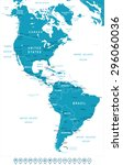 north and south america map  ... | Shutterstock .eps vector #296060036