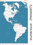 north and south america   map... | Shutterstock .eps vector #296060072
