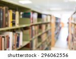 books on bookshelf in library ... | Shutterstock . vector #296062556