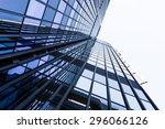 modern glass silhouettes of... | Shutterstock . vector #296066126