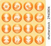 orange arrows icons   Shutterstock .eps vector #2960806