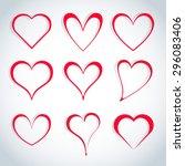 heart shaped vector | Shutterstock .eps vector #296083406