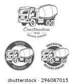 set of vector logos with... | Shutterstock .eps vector #296087015