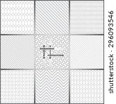 seamless pattern. set of nine... | Shutterstock .eps vector #296093546