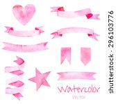 Watercolor Vintage Set Of...