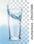glass of water  vector... | Shutterstock .eps vector #296107688