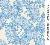 floral seamless pattern.... | Shutterstock .eps vector #296113772