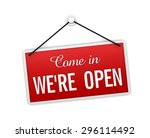 we are open | Shutterstock . vector #296114492
