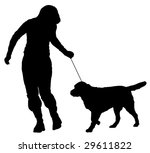 handler and a dog | Shutterstock .eps vector #29611822