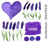 vector watercolor elements set... | Shutterstock .eps vector #296145215
