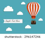 Air Balloon Background With...
