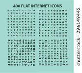 400 flat internet  website  web ... | Shutterstock .eps vector #296149442