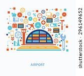 airport concept design on white ... | Shutterstock .eps vector #296149652