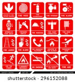 set of safety signs.... | Shutterstock .eps vector #296152088