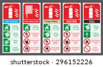 set of safety labels. fire... | Shutterstock .eps vector #296152226