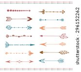 hand drawn arrows collection.... | Shutterstock .eps vector #296152262
