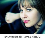 beautiful driver | Shutterstock . vector #296175872