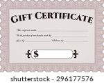 gift certificate template....