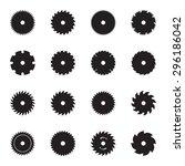 circular saw blade icons.... | Shutterstock .eps vector #296186042