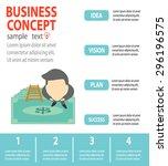 successful businessman standing ... | Shutterstock .eps vector #296196575