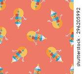 snowman flat icon eps10... | Shutterstock .eps vector #296205992
