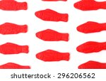 red gummy jelly fish candies | Shutterstock . vector #296206562