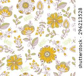 seamless pattern in vintage... | Shutterstock . vector #296213528