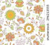 seamless pattern in vintage...   Shutterstock . vector #296213555