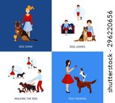People With Dogs Design Concep...