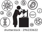 scientist and scientific... | Shutterstock .eps vector #296233622