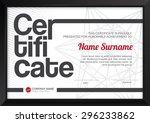 vector illustration certificate ... | Shutterstock .eps vector #296233862
