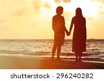 young romantic couple on the... | Shutterstock . vector #296240282