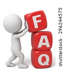 3d people with the word of faq. ...   Shutterstock . vector #296244575