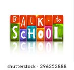 color blocks with back to... | Shutterstock .eps vector #296252888