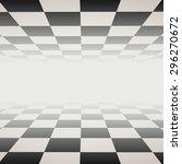 chessboard   floor and ceiling  ... | Shutterstock . vector #296270672