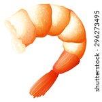 shrimp tail on white...   Shutterstock .eps vector #296273495